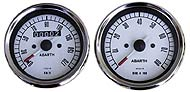 Analog gauges white face for vintage Fiat 500